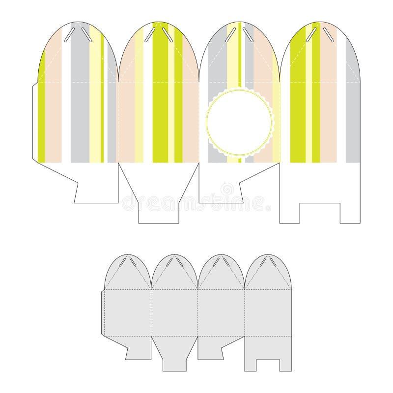 Decoratieve giftdoos Die-cutting vectormalplaatje stock illustratie