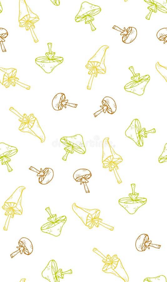 Decoratieve grafisch van de patrooninstallatie stock afbeelding