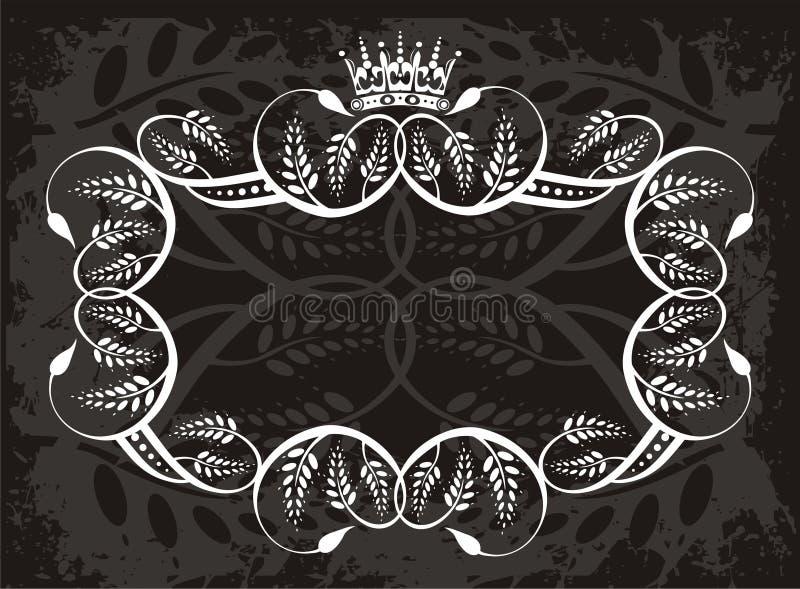 Decoratieve grens met kroon stock illustratie