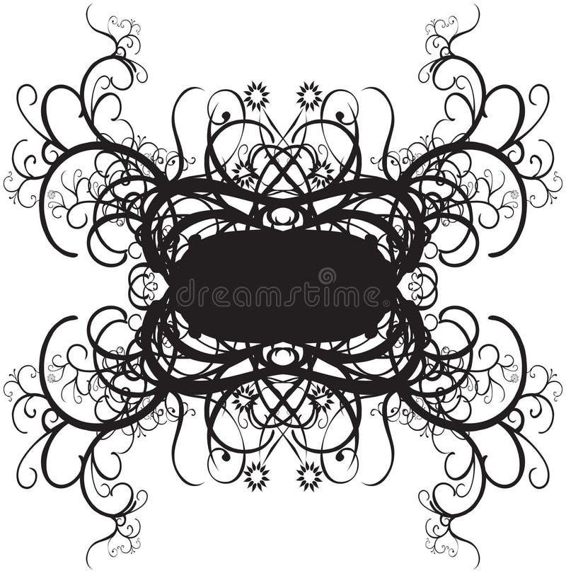 Decoratieve grensontwerpen royalty-vrije illustratie