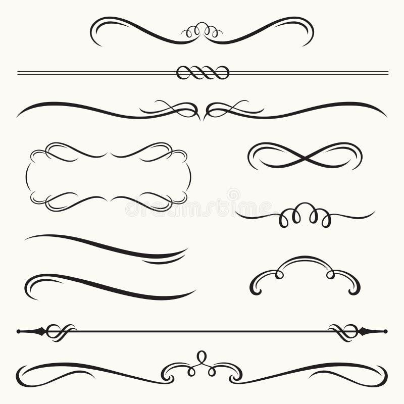 Decoratieve Grenzen en Frames stock illustratie