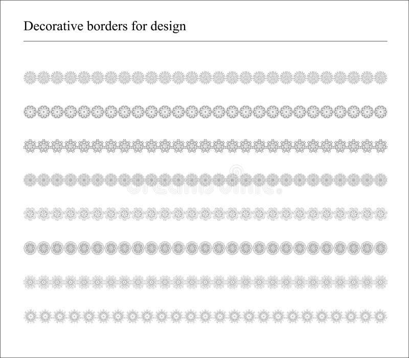 Decoratieve Grenzen voor Banners en Etnisch stock illustratie