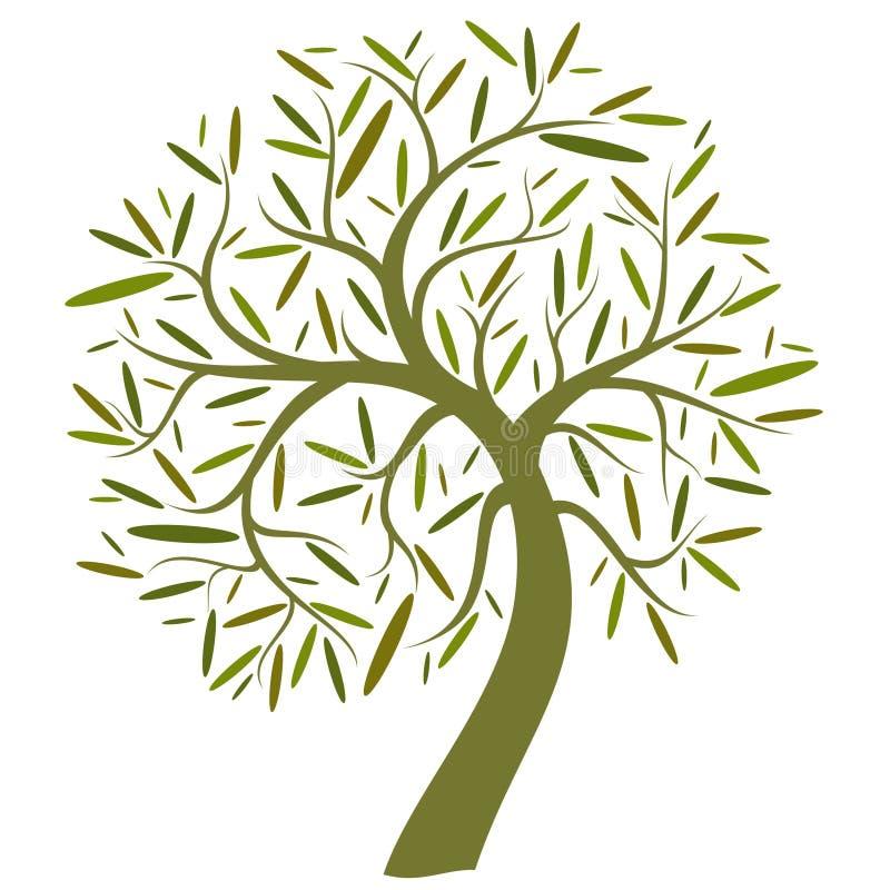 Decoratieve groene boom vector illustratie