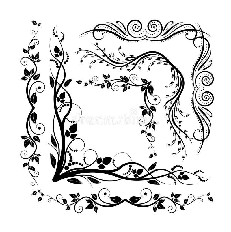 Decoratieve hoeken royalty-vrije illustratie