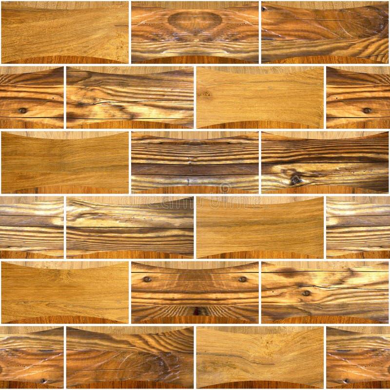 Decoratieve houten bakstenen - Binnenlandse muurdecoratie royalty-vrije stock foto's