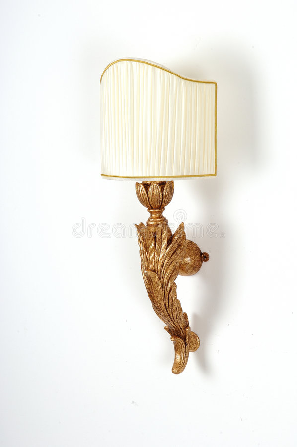 Decoratieve houten muurlamp royalty-vrije stock afbeelding