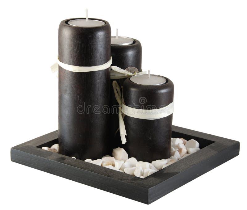 Decoratieve kaarsen stock afbeeldingen