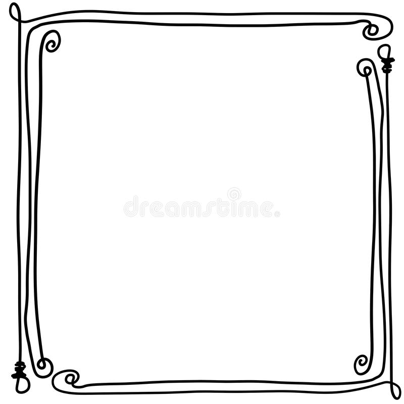 Decoratieve kadergrens met bendy beenderen vector illustratie
