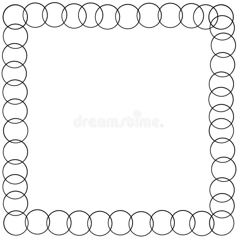 Decoratieve kadergrens met cirkelsnaren royalty-vrije illustratie