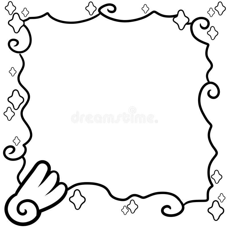 Decoratieve kadergrens met dromenland luxe vector illustratie