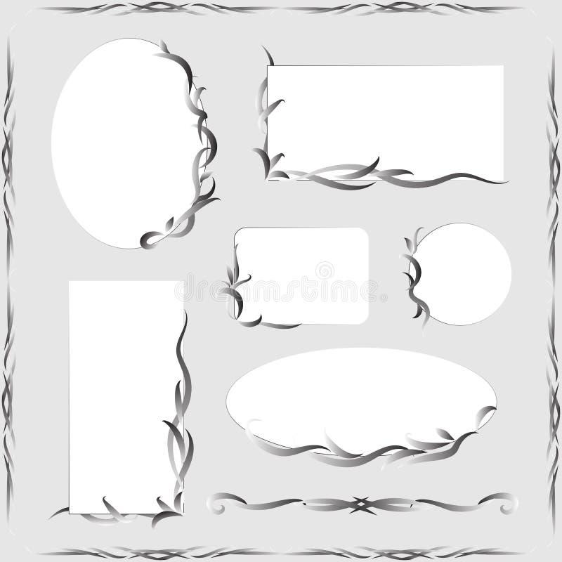 Decoratieve Kaders en Ornamenten royalty-vrije illustratie