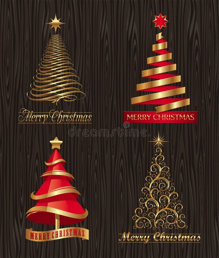 Decoratieve Kerstbomen vector illustratie