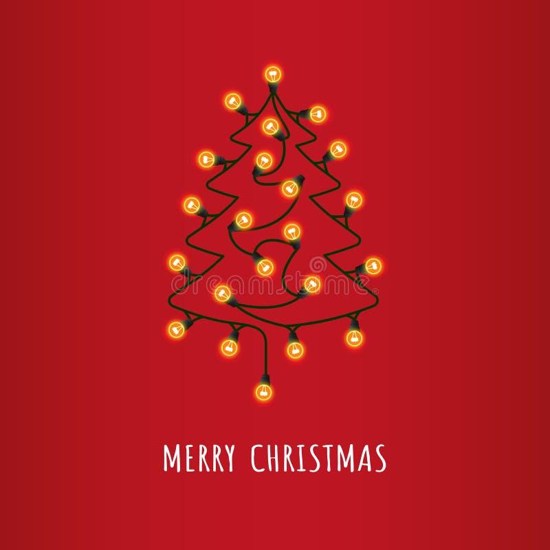 Decoratieve Kerstmisboom stock illustratie