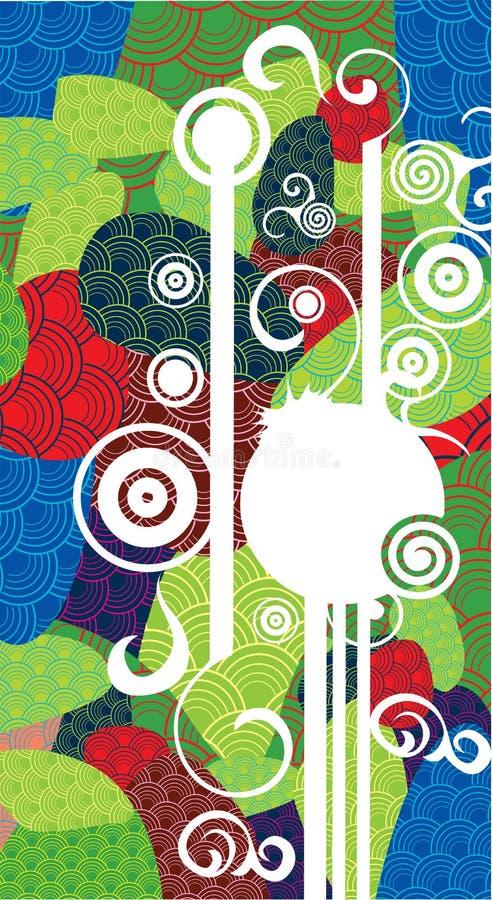 Decoratieve kleurrijk royalty-vrije illustratie