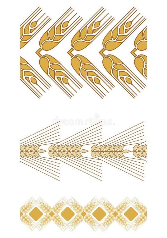 Decoratieve korreloren om ontwerpsamenstellingen tot stand te brengen De Joodse vakantie van Shavuot Symbolen van de oogst en stock illustratie