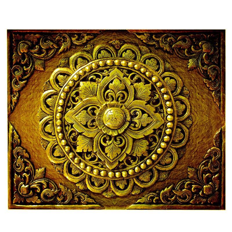 Decoratieve Kunst van Lanna Thai. royalty-vrije stock foto