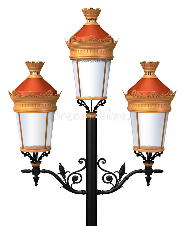 Decoratieve lamppost vector illustratie