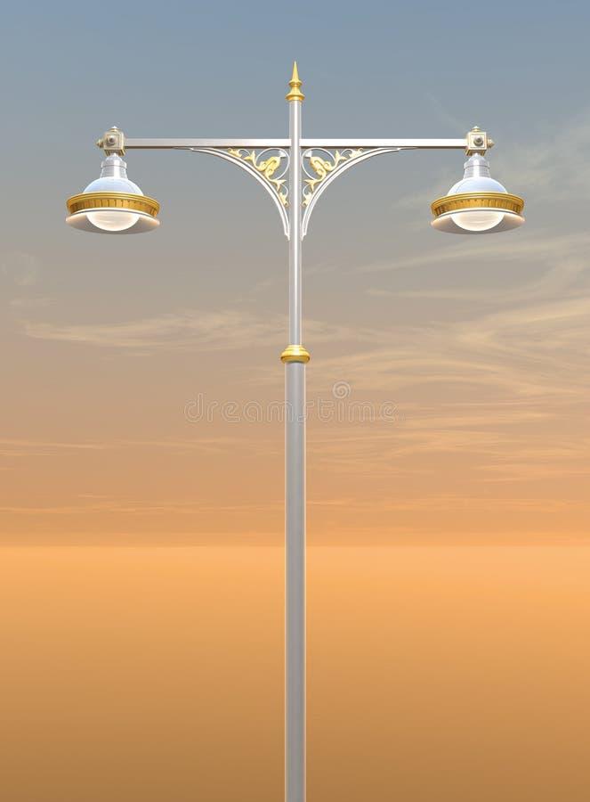 Decoratieve lamppost royalty-vrije illustratie
