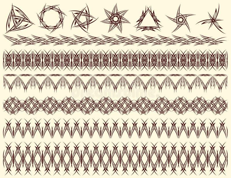 Decoratieve lijnen, vector royalty-vrije illustratie