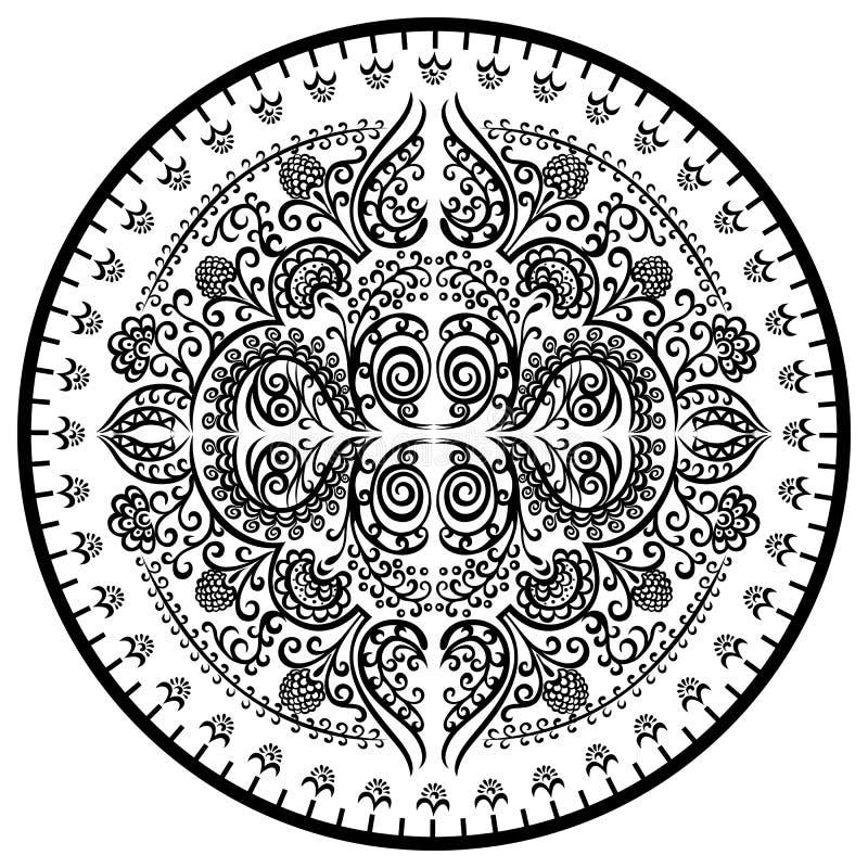 Decoratieve mandala van het ornamentpatroon vector illustratie