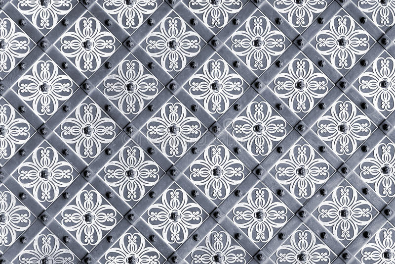 Decoratieve metaalachtergrond stock afbeelding