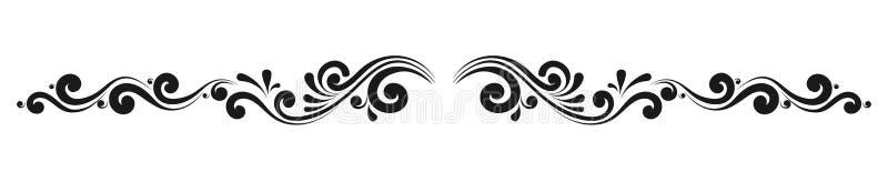 Decoratieve monogrammen en kalligrafische grenzen stock illustratie
