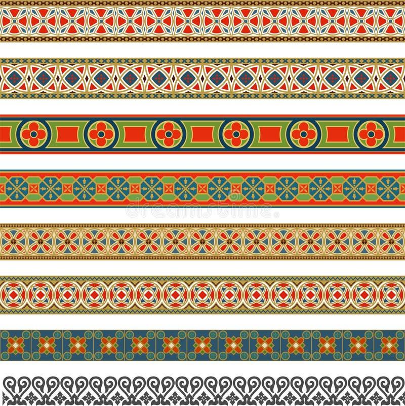 Decoratieve naadloze grens stock illustratie
