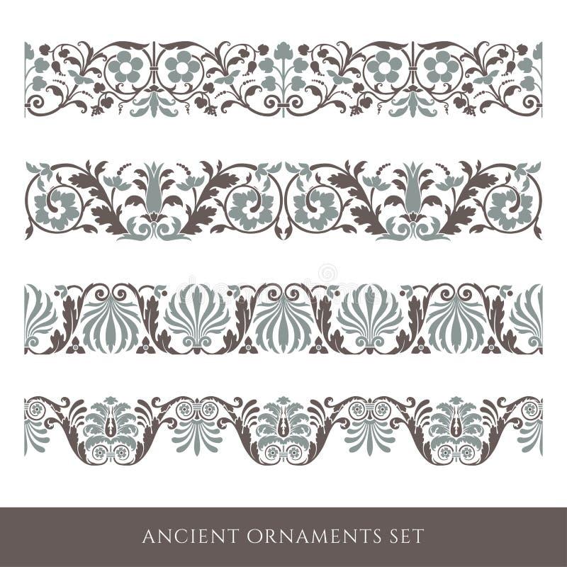 Decoratieve naadloze grens royalty-vrije stock afbeelding