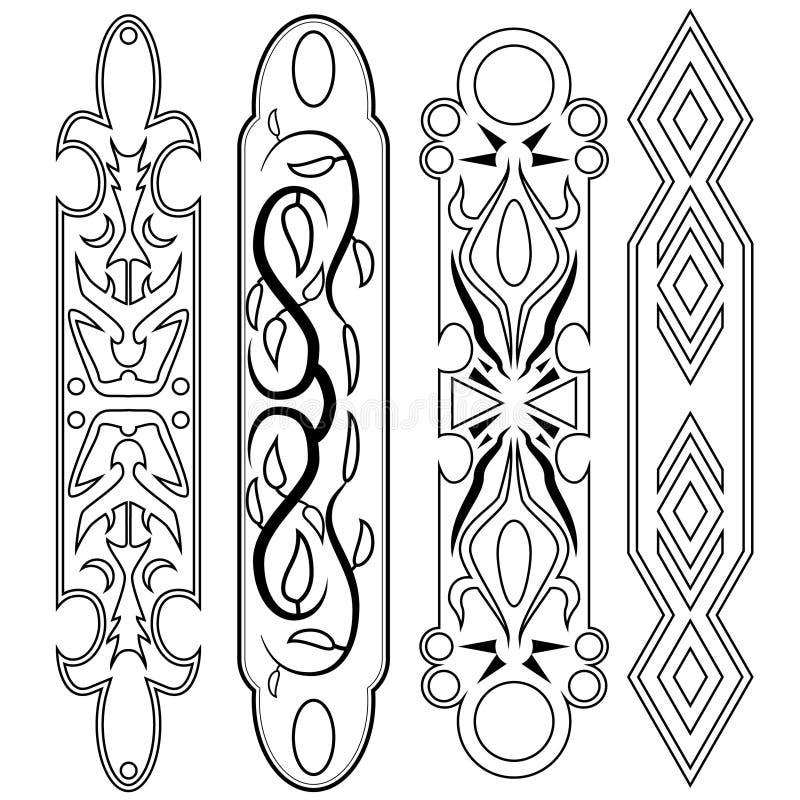 Decoratieve ontwerp Vectorbar royalty-vrije stock afbeeldingen