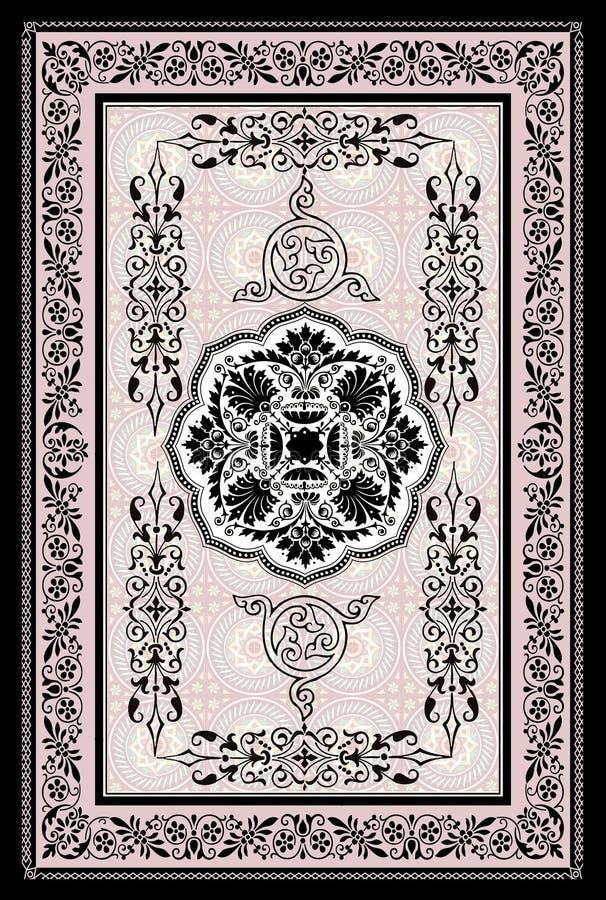 Decoratieve oosterse deken stock illustratie