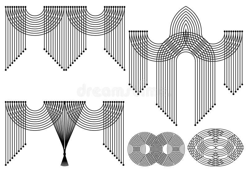 Decoratieve ornamenten. vector illustratie. vector illustratie