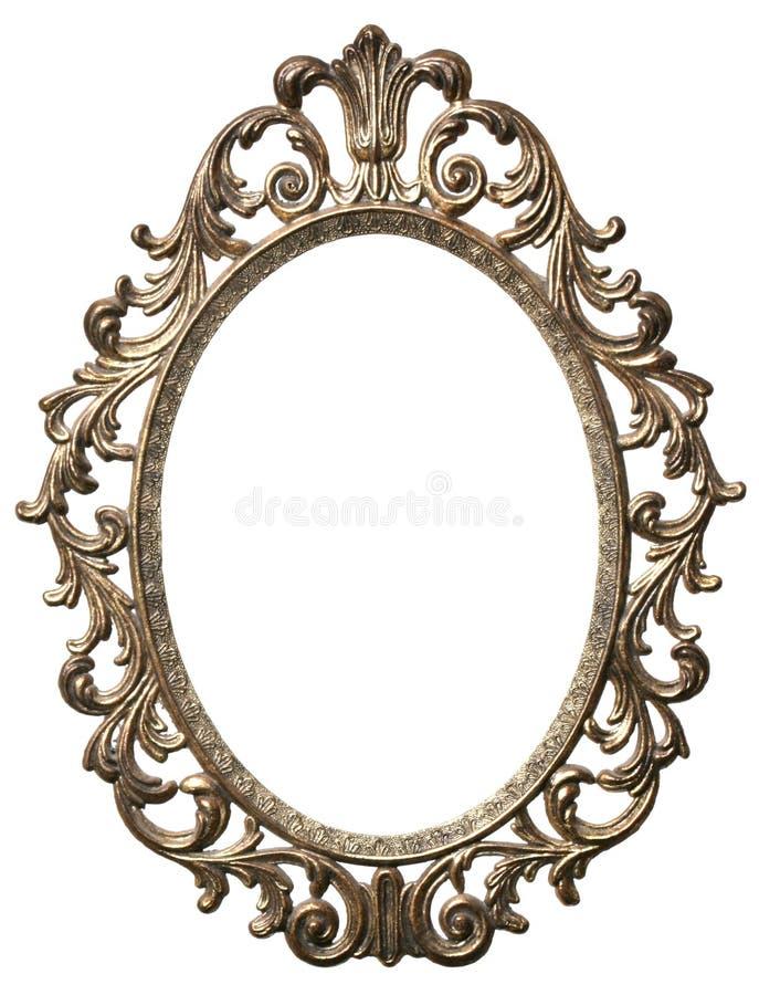 Decoratieve ovale omlijsting royalty-vrije stock foto's