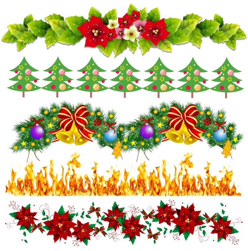 Decoratieve paginagrenzen royalty-vrije illustratie