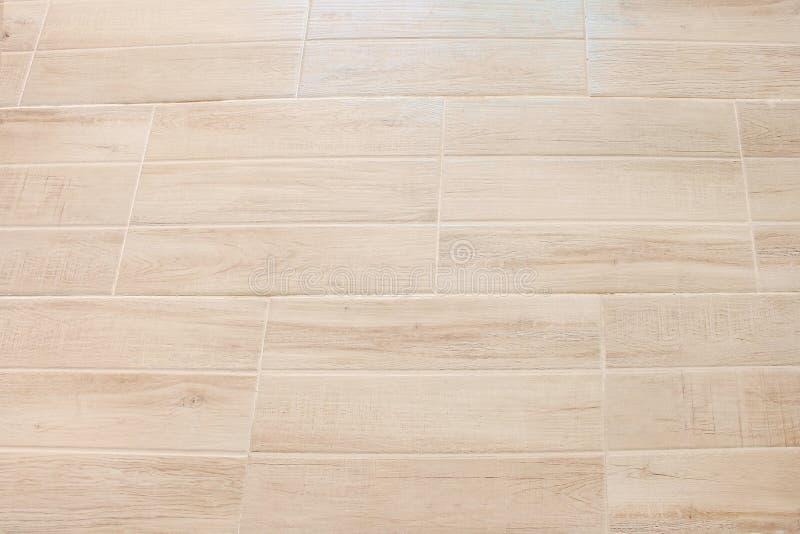 Decoratieve patronen van de schone lichtbruine gelamineerde textuur horizontale van de parketvloer voor achtergrond, royalty-vrije stock afbeelding