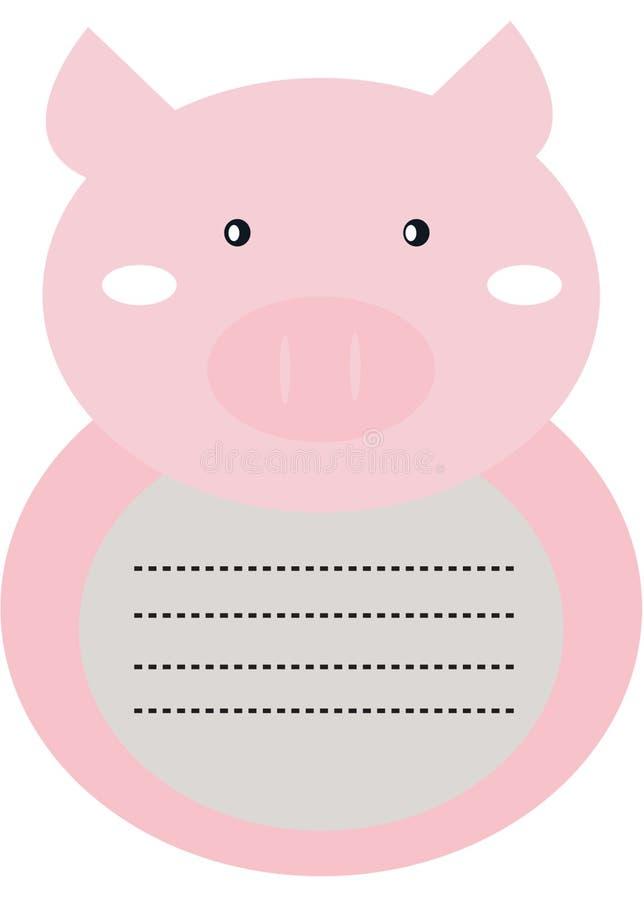 Decoratieve piggy brievenkantoorbehoeften royalty-vrije illustratie