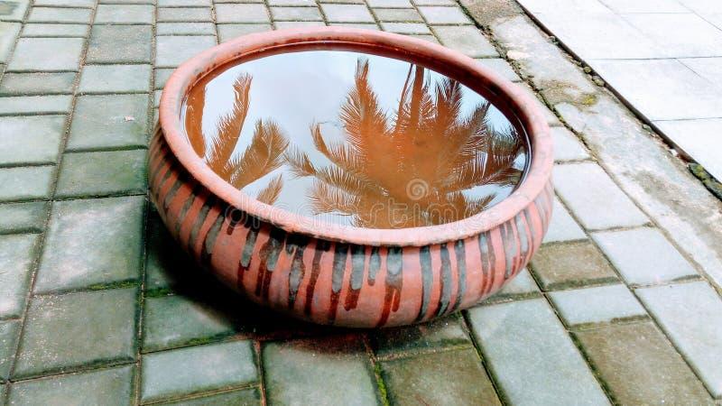 Decoratieve Pot met Water stock foto's