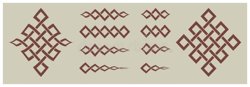 Decoratieve punten en ornamenten geometrische vormen stock foto's