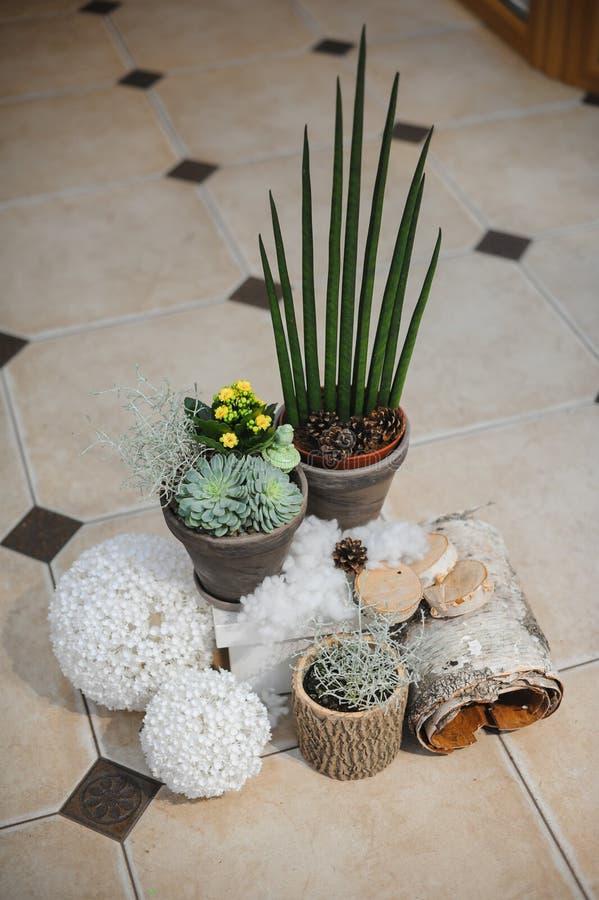 Decoratieve seizoengebonden samenstelling met bloemen stock afbeelding
