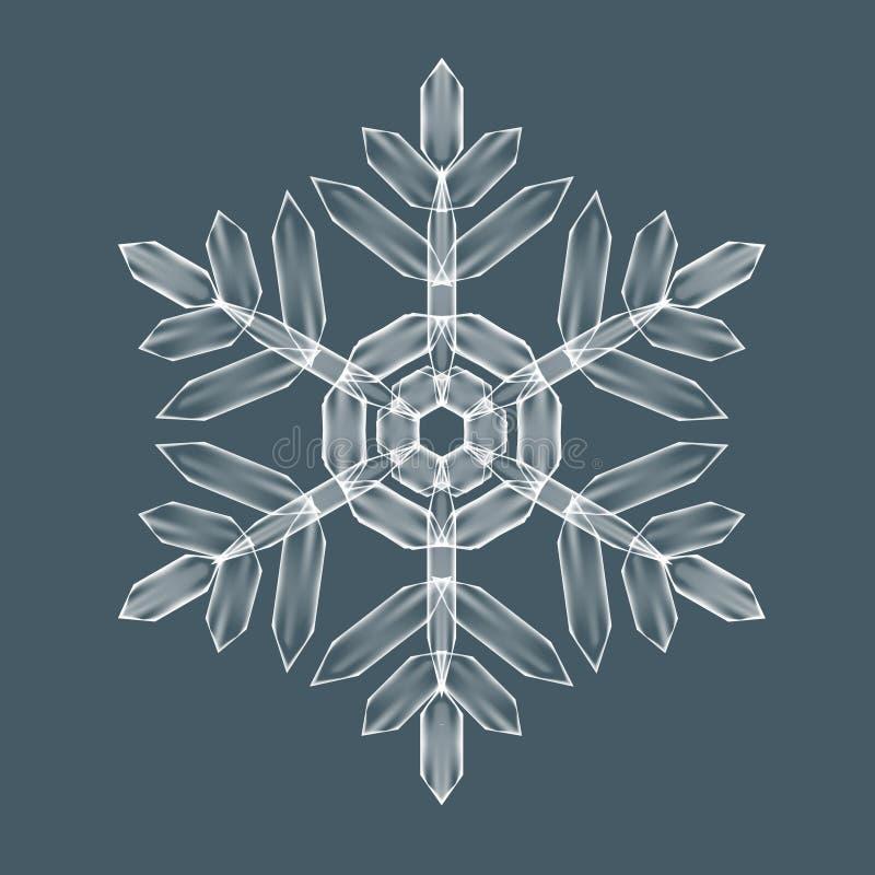 Decoratieve Sneeuwvlok stock illustratie