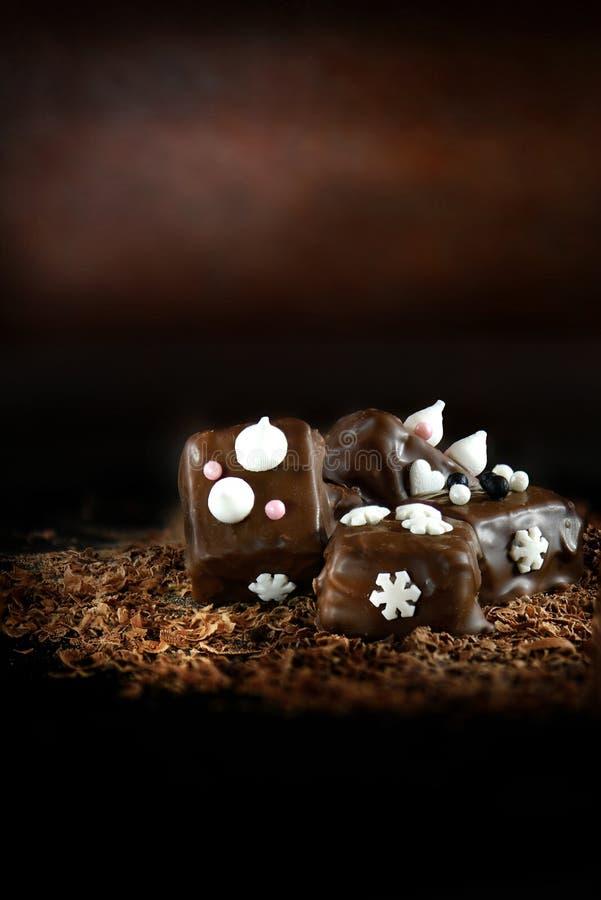 Decoratieve Suikergoedchocolade royalty-vrije stock fotografie