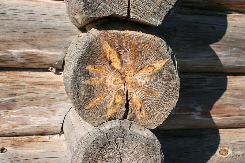 Decoratieve textuurbesnoeiing van een oude boom in de bouw van etnisch w royalty-vrije stock afbeelding