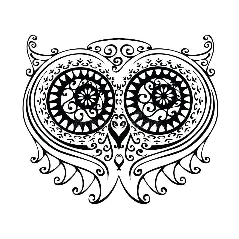 Decoratieve Uilillustratie Stock Afbeeldingen