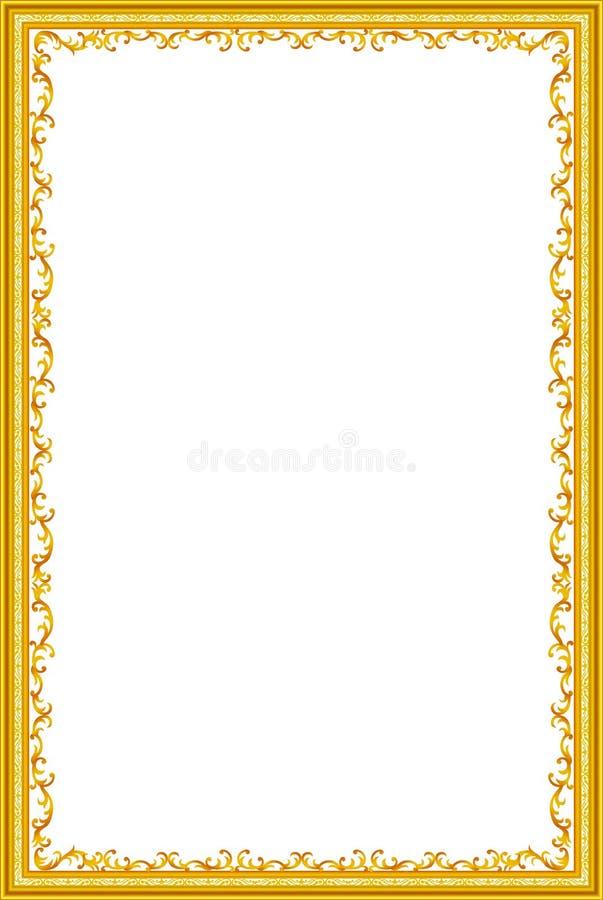 Decoratieve uitstekende geplaatste kaders en grenzen, fotokader met hoeklijn stock illustratie
