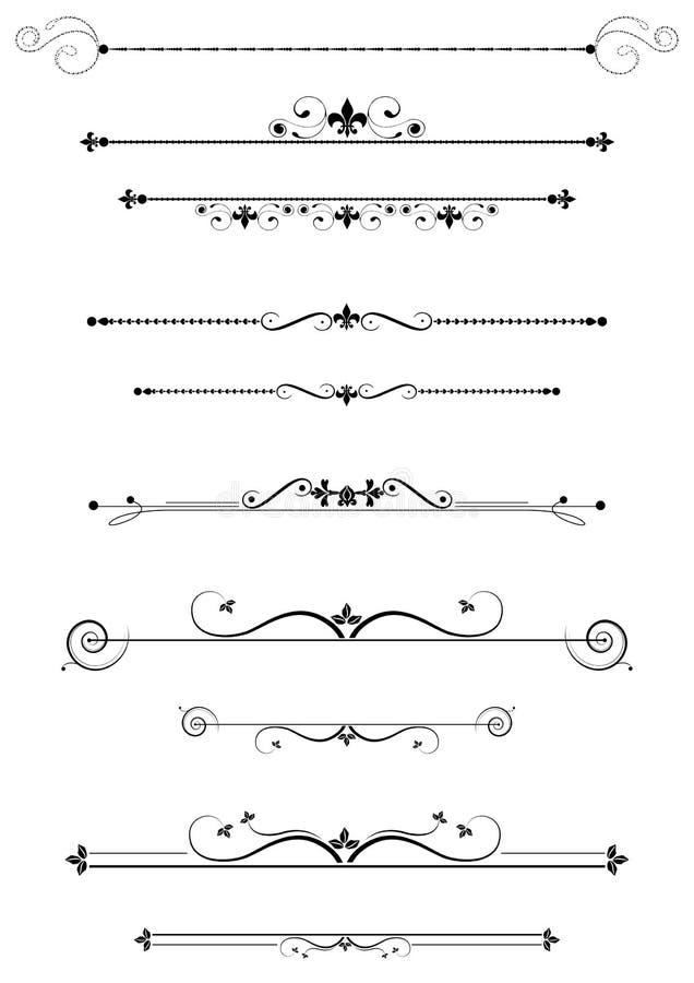 Decoratieve verdelers stock illustratie