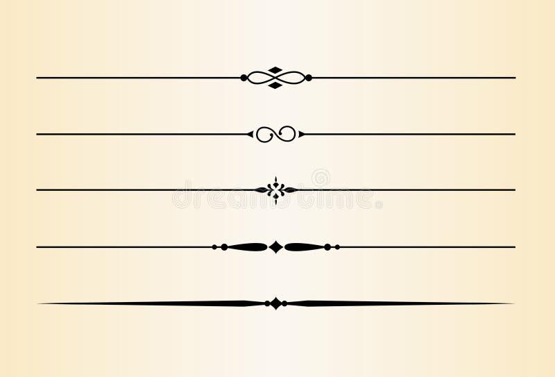 Decoratieve Verdelers en Accenten #3 vector illustratie