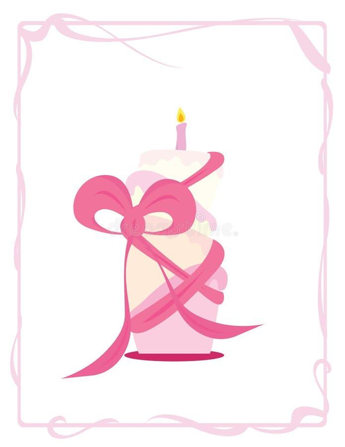 Decoratieve verjaardagscake vector illustratie
