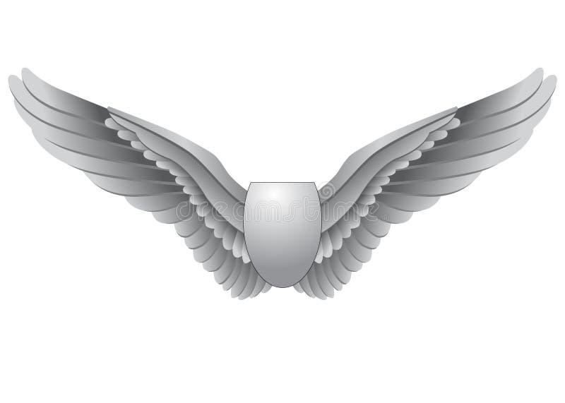 Decoratieve Vleugels royalty-vrije illustratie