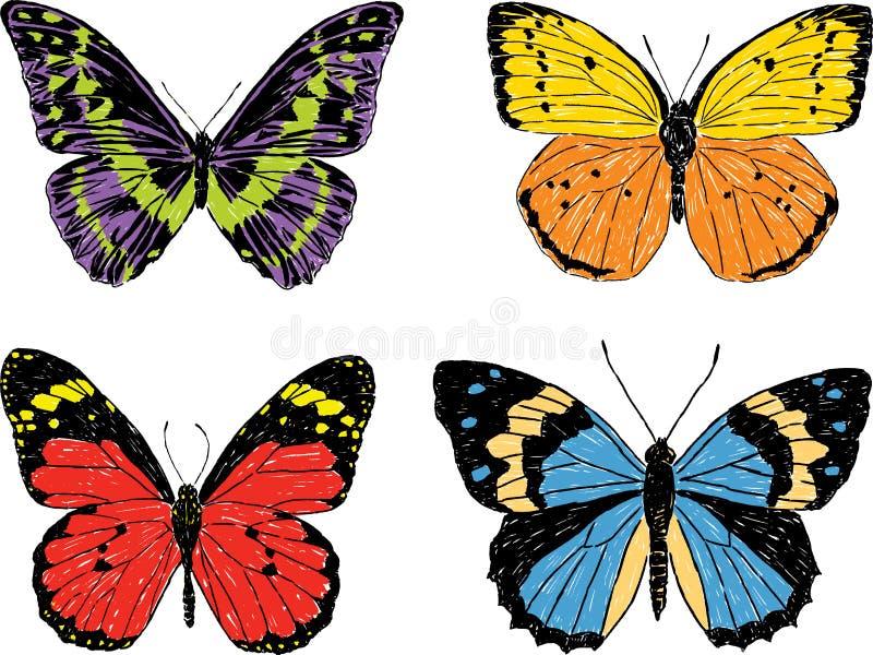 Decoratieve vlinders vector illustratie