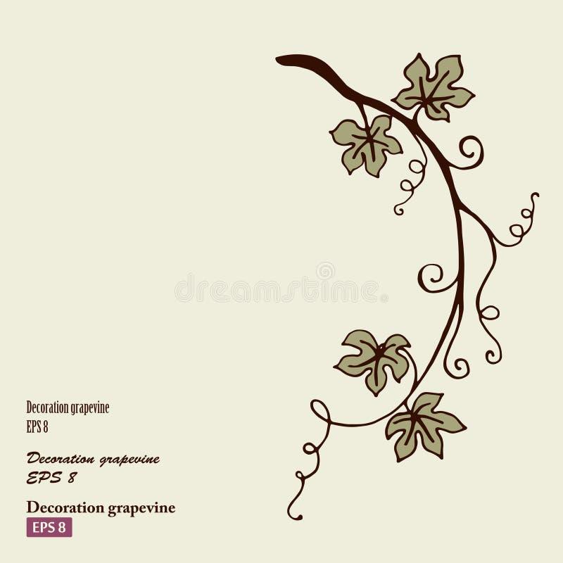 Decoratiewijnstok vector illustratie