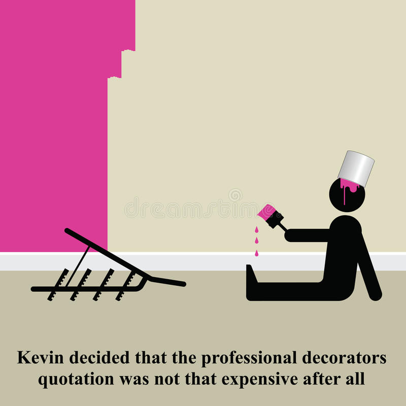 Download Decorating stock vector. Image of silhouette, joke, kevin - 12206738